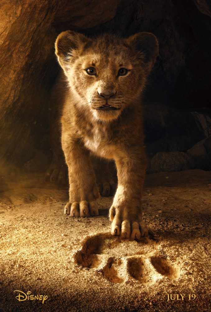 lion king live action movie trailer poster young simba voice cave