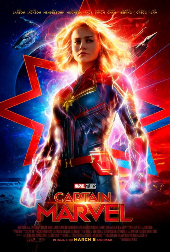 captain marvel new poster hd high quality captain marvel trailer espn monday night football