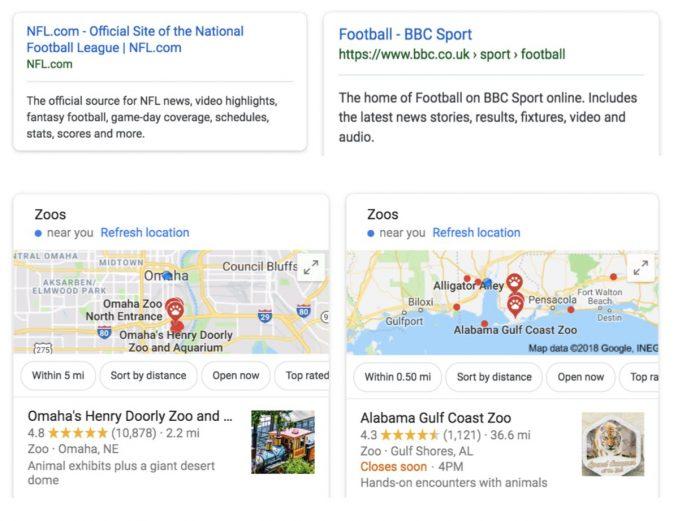 google search result localization vs duckduckgo study incognito mode not anonymous personalization